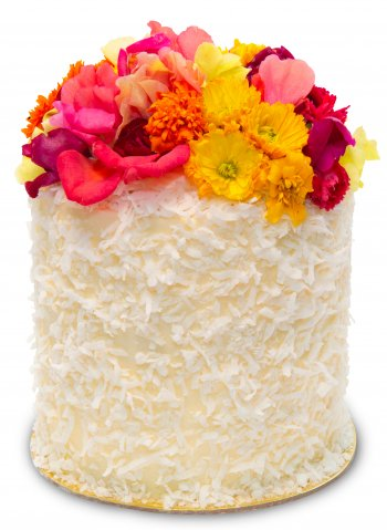 Triple Coconut Flower Crown Cake