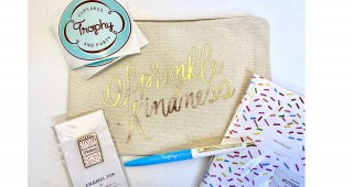 Sprinkle Kindness Canvas Pouch-Large