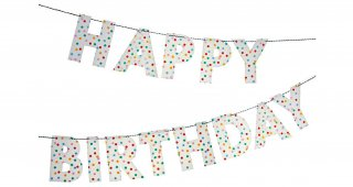 Happy Birthday Confetti Garland