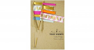 Happy Birthday Cake Flag Toppers