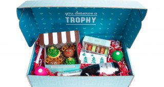 Holiday Gift Box with Wine