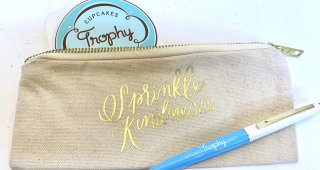 Sprinkle Kindness Canvas Pouch- small