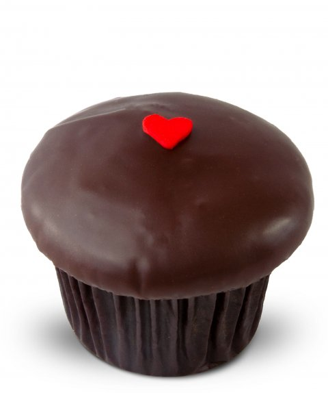 Dark Chocolate Raspberry Cupcake