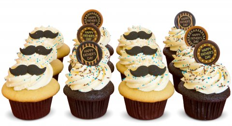 Father's Day cupcakes with moustaches