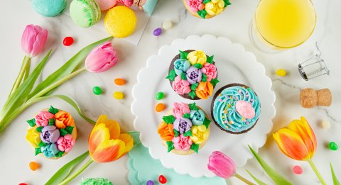 Flowers and Cupcakes