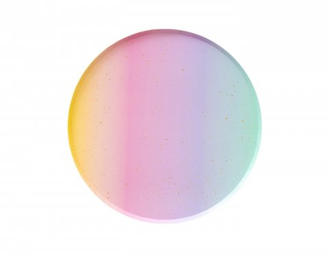 ombre paper plate