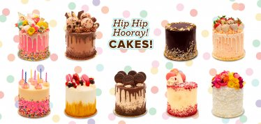 HIp Hip Hooray. Cakes.