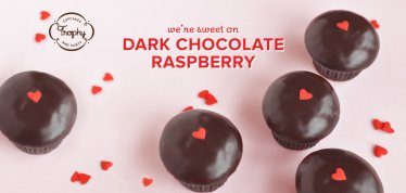 Valentines Day Cupcakes - We're sweet on Dark Chocolate Raspberry