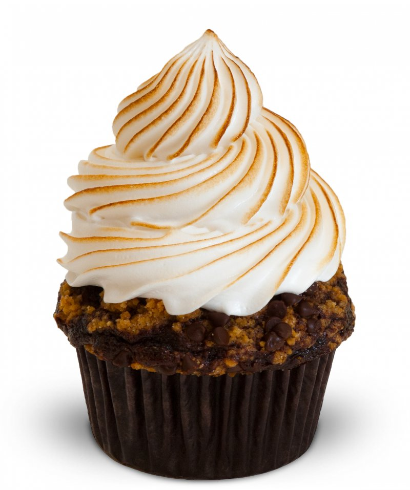 Chocolate Graham Cracker Cupcake