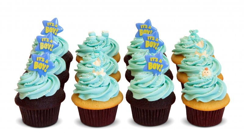 Marvelous Custom Baby Shower Cupcakes   Boy