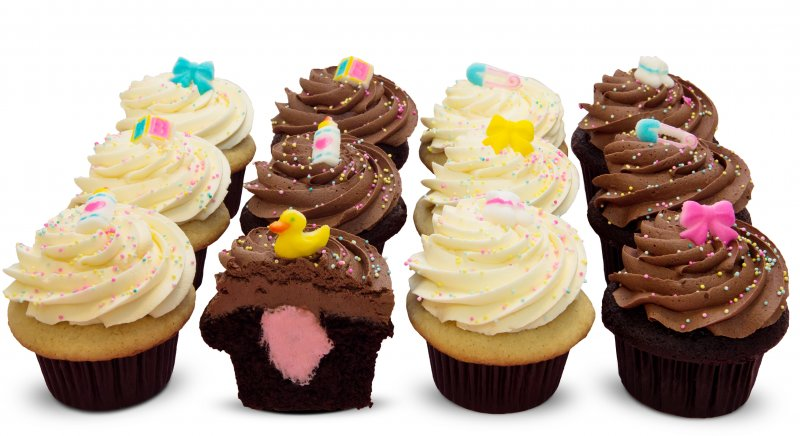 Gender reveal cupcakes - It's a Girl