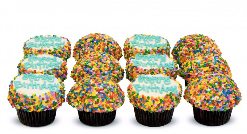 Happy Birthday Confetti Cupcakes