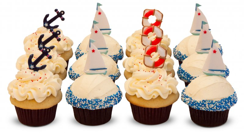 Nautical (Boat/Sailing Themed) Cupcakes