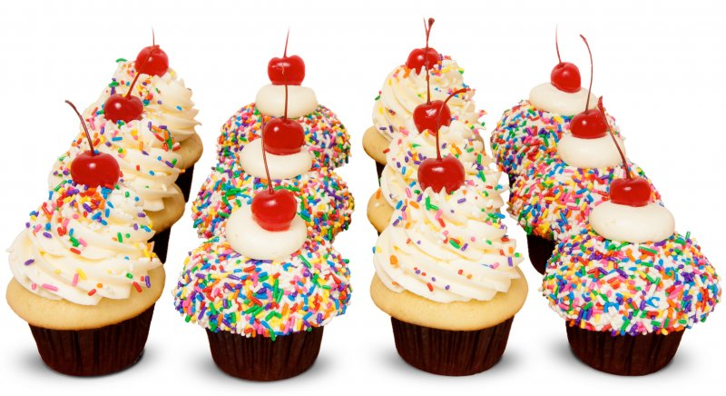 Sprinkle Party Cupcakes