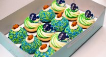 Seahawks Cupcakes in Box
