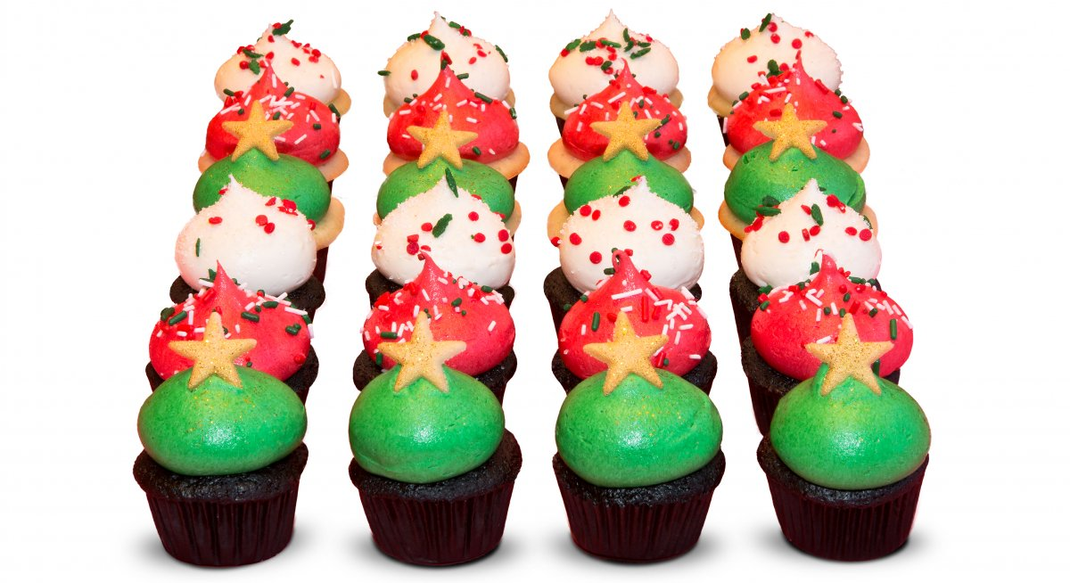 Holiday Mini Cupcakes
