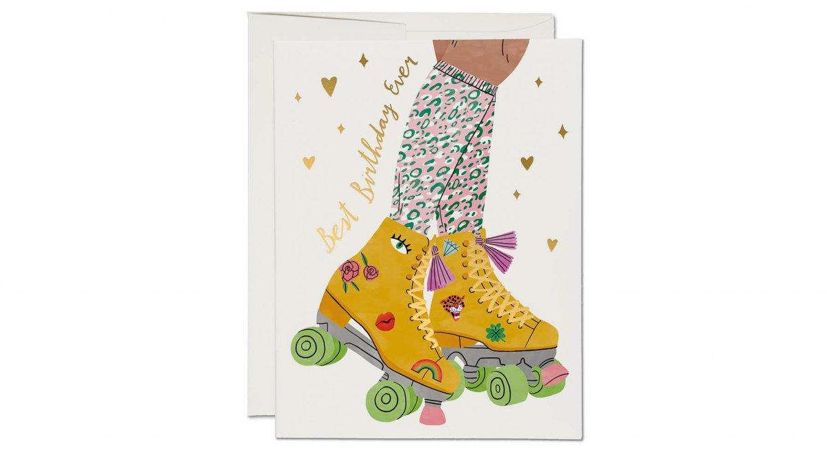 rollerskate birthday card