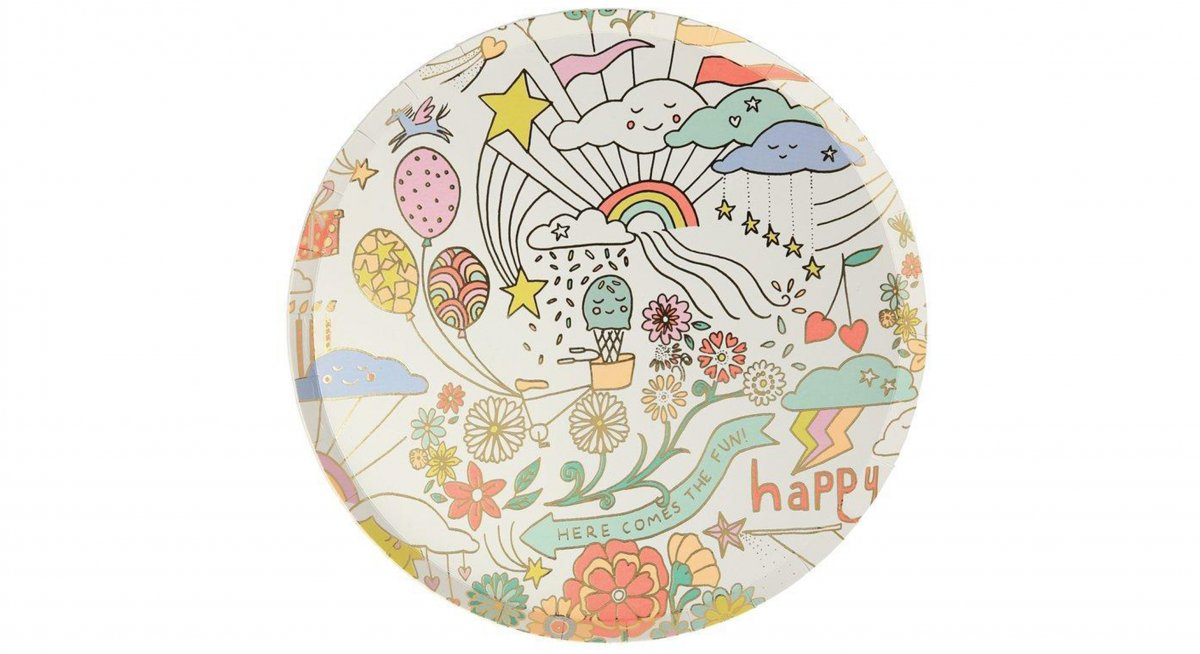 Happy Doodle Side Plate