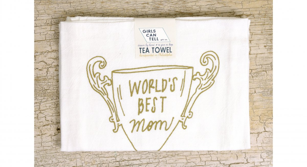 Mother's Day Trophy Tea Towel
