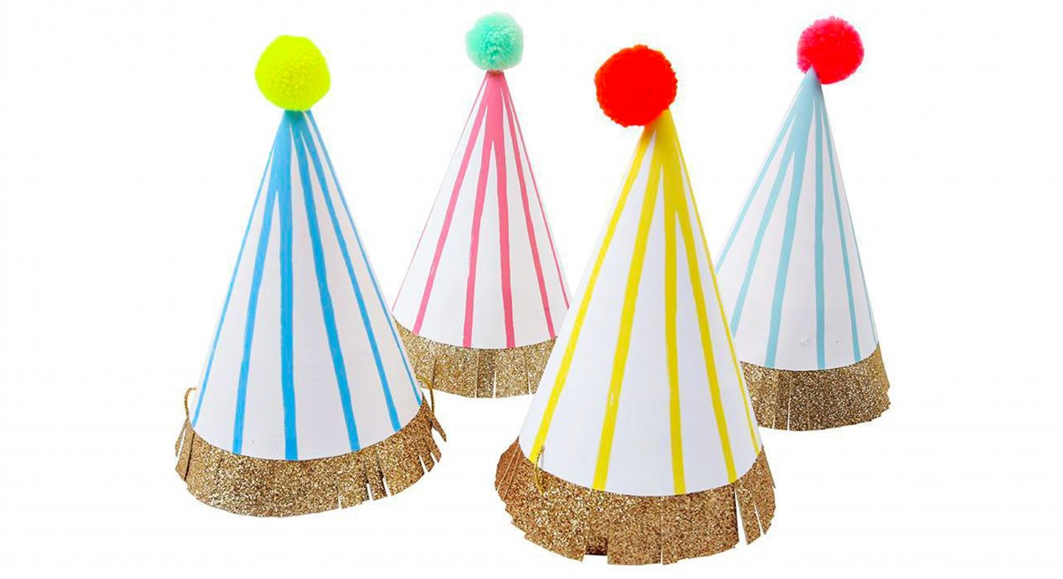 pom pom party hats