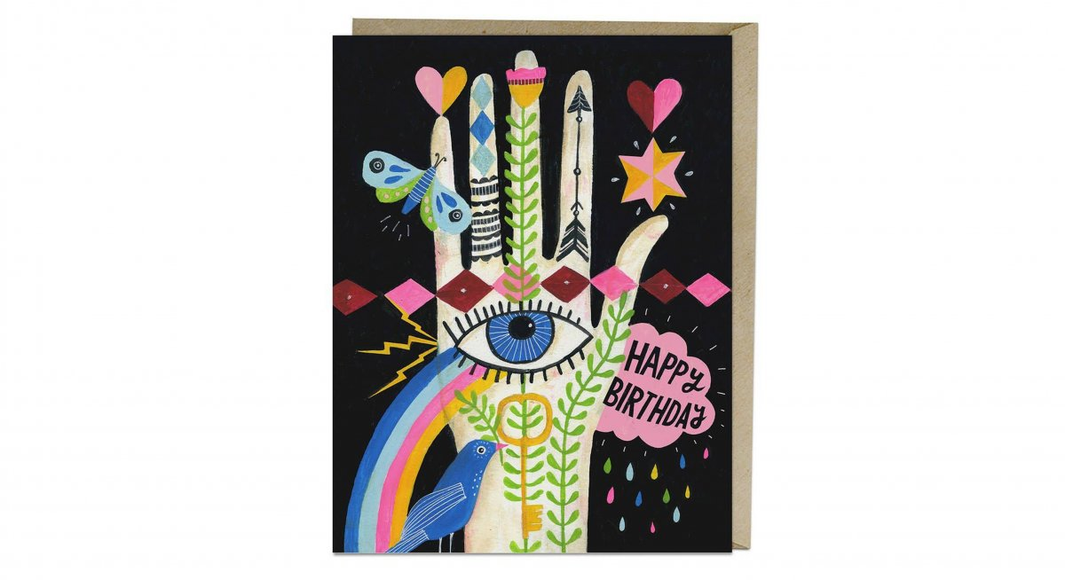 Rainbow Heart Birthday Card