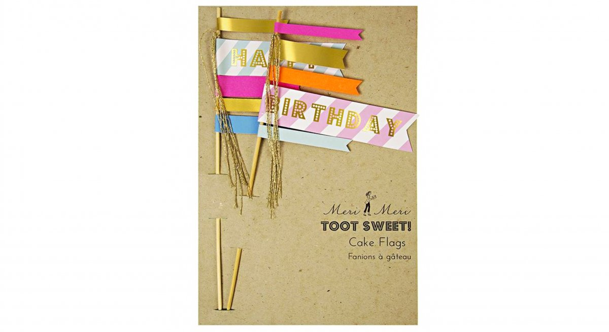 Toot Sweet Happy Birthday Flag Toppers