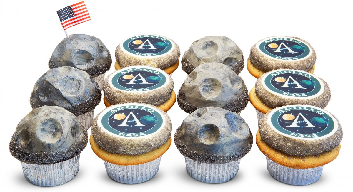 Apollo Moon Walk Cupcakes