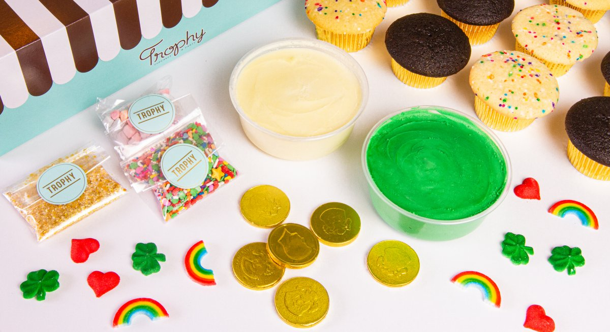 St. Patricks DIY cupcake kit