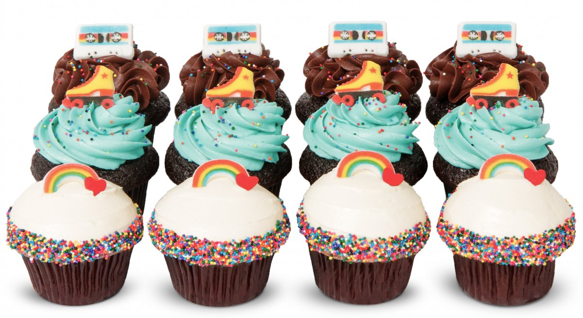 I Love the 80s Cupcakes
