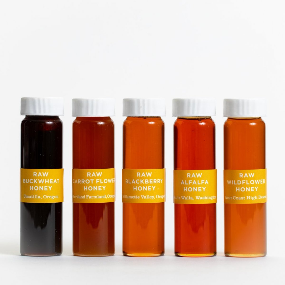5-vial raw honey collection