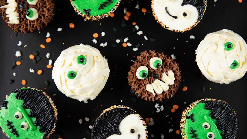 Monster Face Cupcakes